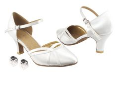 "Ladies Women Ballroom Dance Shoes Very Fine EKSA3540 SERA 2.5"" Heel with Heel Protectors (6.5, White Satin) Very Fine Dance Shoes http://www.amazon.com/dp/B00G0N61DQ/ref=cm_sw_r_pi_dp_y3saub1Z8PFZP"