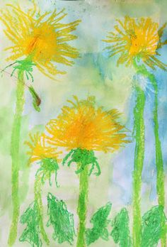 Frühling im Kunstunterricht in der Grundschule - 136s Webseite!