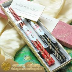 Traditional Wakasa Nuri Bashi (lacquered chopsticks) Meisho Wakasa Zen (legend artisan Wakasa pair of chopsticks) Kinsai Ryuun two pairs