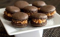 Samoa Macarons for National Caramel Day via BlogHer
