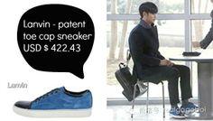 《來自星星的你》第9集中的藍色球鞋 品牌 Lanvin 售價美金$422.43,約台幣$12,670  點這邊購買✈http://www.farfetch.com/shopping/men/lanvin-patent-toe-cap-sneaker-item-10307355.aspx
