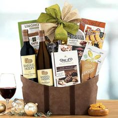 Wine Gift Baskets - Business Wine Gift Basket Show Appreciation, Wine Gift Baskets, California Wine, Thanksgiving Gifts, Wine Gifts, Wines, Goodies, Canning, Business