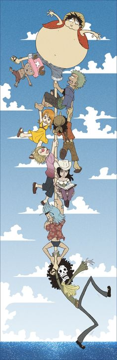 Straw Hat Crew Mugiwaras Luffy Zoro Nami Usopp Sanji Chopper Robin Franky Brook One Piece