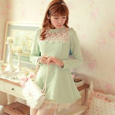 Japanese Fashion Hollow Stand Collar Dress