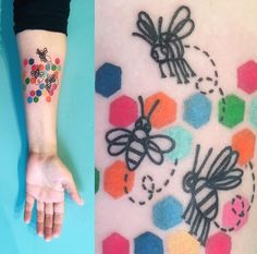 Briana Sargent Buju bee tattoo