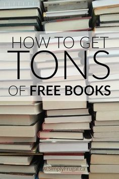 How to Get Tons of Free Books This article is great for avid readers like me! Here's how to get TONS of Free Books! How to Get Tons of Free Books Free Books By Mail, Free Books To Read, Good Books, Free Audio Books, Free Reading Books, How To Download Books, Reading Sites, Free Mail, Amazing Books