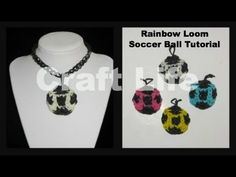 Rainbow Loom Soccer Ball Charm Tutorial
