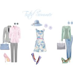 Tinted Summer by sabira-amira on Polyvore featuring H&M, FTC Cashmere, Vero…