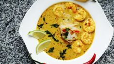 Recipe Images, Prawn, Cheeseburger Chowder, Thai Red Curry, Food Porn, Food And Drink, Ethnic Recipes, Bread, Diet