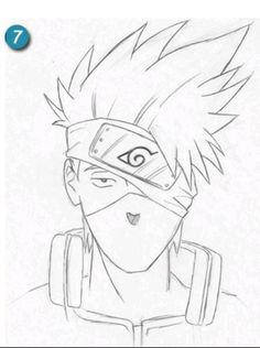 Kakashi Hatake, o ninja que copia Kakashi Drawing, Naruto Sketch Drawing, Naruto Drawings, Anime Drawings Sketches, Anime Sketch, Manga Drawing, Naruto Kakashi, Anime Naruto, Anime Ninja