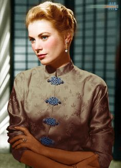 Colorized promo still from the movie Green Fire, 1954 Hollywood Photo, Old Hollywood Glamour, Vintage Hollywood, Classic Hollywood, Grace Kelly Style, Princess Grace Kelly, Royal Weddings, 1960s Fashion, Hollywood Celebrities