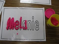 love this for fine motor and name recognition.