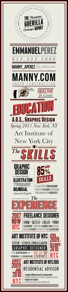 Click to see my portfolio - I design infographic resumes