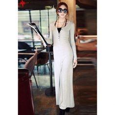 $19.77 Casual Scoop Neck Long Sleeve Women's Dress