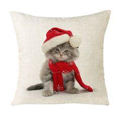 #Raumidee des Tages: Hast du dein Wohnzimmer schon für #Weihnachten umgestylt? #Katzen #Kissen <3 ► https://www.amazon.de/Kissenbez%C3%BCge-Longra-Weihnachten-Kissenbezug-Weihnachtsdeko/dp/B01MXDRO3J/?_encoding=UTF8&camp=1638&creative=6742&keywords=weihnachtsdeko&linkCode=ur2&qid=1479307008&s=kitchen&site-redirect=de&sr=1-65&tag=raumideen-21&th=1