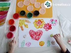 malování prstovými barvami