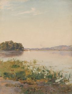 "Walter Launt Palmer (1854–1932), ""Summer on the Hudson,"" oil on canvas"