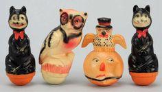 vintage Halloween celluloid toys
