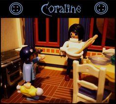 """Inspiriert von Neil Gaimans unglaublicher Geschichte """"Coraline"""". Playmobil"""