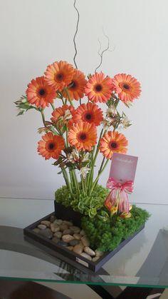 Diseño Floral Gerberas Naranjitas