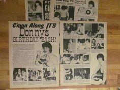 Donny Osmond Osmond Brothers Two Page Vintage clipping Osmonds