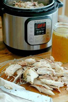 How To Make An Instant Pot Whole Chicken for FAST Healthy Meals - Raising Generation Nourished Slow Cooker Pressure Cooker, Instant Pot Pressure Cooker, Pressure Cooking, Fast Healthy Meals, Healthy Recipes, Real Food Recipes, Cooking Recipes, Slow Cooker Recipes, Soups