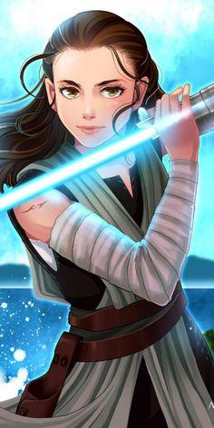 Star Wars Rey art by Nemling - Star Wars Costumes - Latest Star Wars Costumes - Finn Star Wars, Rey Star Wars, Star Wars Fan Art, Star Wars Jedi, Star Wars Quotes, Star Wars Humor, Star Wars Tattoo, Star Wars Characters, Star Wars Episodes