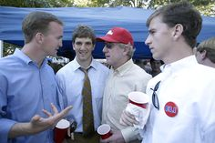 Ole Miss - 2003 Peyton, Eli, Archie and Cooper Manning enjoy a Saturday afternoon in The Grove in Oxford, Mississippi