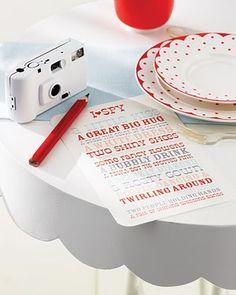 Always Andri Wedding Design Blog: A Fab Little Idea: Children's Wedding Eye Spy