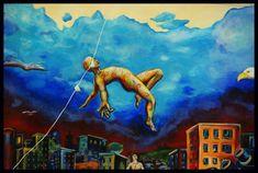 graffiti kunst san francisco usa fliegender mensch