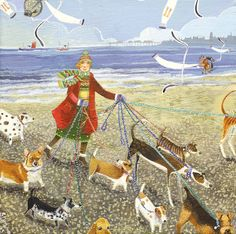 'Leader Of The Pack' (Dogs) By Artist Stephanie Lambourne.