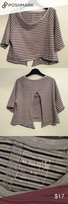 Free people crop top We the free striped crop top with open back. Very good condition. Free People Tops Crop Tops