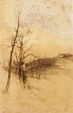 Ovidio Murguía - Paisaxe de inverno.