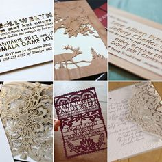 laser cut invitations.. love to try this on my Exploding Box Invitations