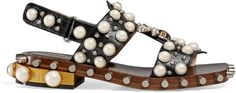 Gucci Leather studded sandal