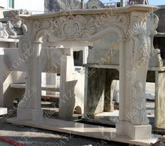 thegatz - Classic Roman Inspired Design on this Marble Fireplace Mantel, $3,790.00 (http://www.thegatz.com/classic-roman-inspired-design-on-this-marble-fireplace-mantel/)