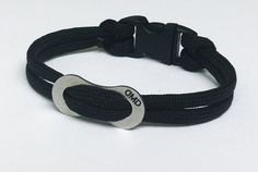 Paracord Bracelet With Stainless Chain Link ~ DWIGHTSSHOP.