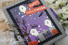 Halloween Series, Halloween 2019, Halloween House, Bee News, Honey Bee Stamps, Distressed Painting, Halloween Cakes, Fall Cards, Stamping Up