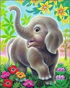 DIY Diamond Painting Cross Stitch cartoon elephant diamond Embroidery animal icon Rhinestone Full Diamond Mosaic Home Decor Cartoon Elephant, Elephant Love, Elephant Art, Elephant Nursery, Baby Cartoon, Happy Elephant, Cute Drawings, Animal Drawings, Illustration Mignonne