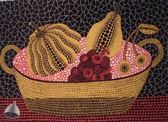 Yayoi Kusama Pumpkin and Fruits