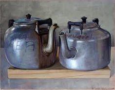 Hot Water by Dick Frizzell Awesome Art, Cool Art, Still Life Sketch, New Zealand Art, Silver Teapot, Nz Art, Art Google, Be Still, Objects