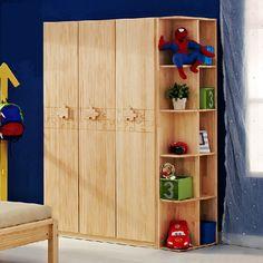 Детский гардеробный шкаф с полками для игрушек и вырезкой пазлов на дверях купить в интернет-магазине https://lafred.ru/catalog/catalog/detail/35817385679/