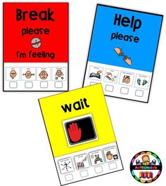 These Support Cards were made in three different sizes and in colour and black & white You can use these cards to provide structure in your behaviour support plans and run in conjunction with ABA Management'.