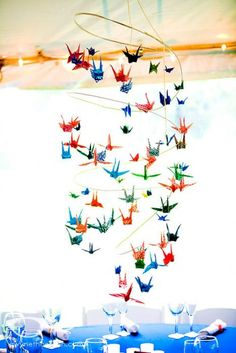 Origami - Cranes - Mobile