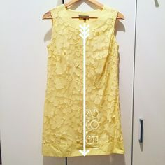 SALE Floral Spring/Summer Dress Size: S ☀️Cute Spring/Summer☀️ Dress Size: S // Color: Yellow (also comes in black) // Material: 65% Cotton + 35% Polyester Lining: 100% Cotton // Side zipper // I ship same day from pet/smoke-free home. ENJOY Lily Dresses Mini