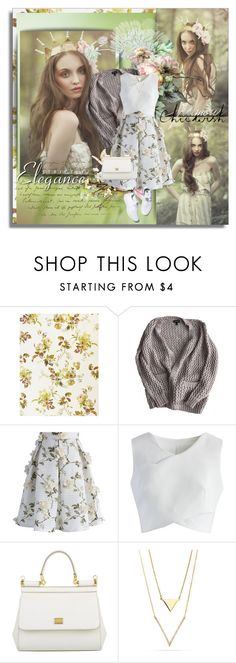 """""""Chicwish"""" by shinee-pearly ❤ liked on Polyvore featuring Topshop, Chicwish, Dolce&Gabbana and Reebok"""
