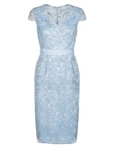 Buy Jacques Vert Corded Lace Dress, Light Blue from our Women's Dresses Offers range at John Lewis & Partners. Womens Light Blue Dress, Light Blue Dresses, Formal Dresses For Women, Dress Suits, Dress Me Up, Mother Of The Bride, Lace Dress, Lens, Wedding Outfits