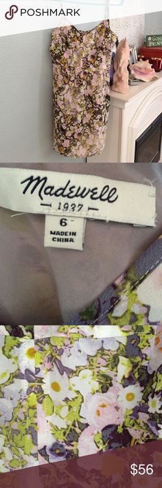 Madewell 100% silk dress🌺🌼🌸 Madewell, Sz 6, 100% silk floral summer dress, gorgeous, gorgeous, gorgeous! 35in in length with pockets. Lining 100% polyester. 🌺🌼🌸 Madewell Dresses Mini