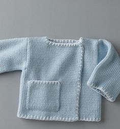 Let's do the handcraft – bebek – Stricken Crochet Baby Jacket, Knitted Baby Cardigan, Knitted Baby Clothes, Cardigan Pattern, Knit Crochet, Knitting Patterns Uk, Baby Patterns, Diy Crafts Knitting, Knitting For Kids