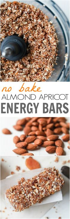 No Bake Apricot Almond Energy Bars - a great quick, easy and healthy snack option for a mid-day boost or post-workout snack. Takes 5 minutes to make! | joyfulhealthyeats.com #glutenfree #ad